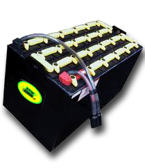 48 volt forklift battery with charger cable